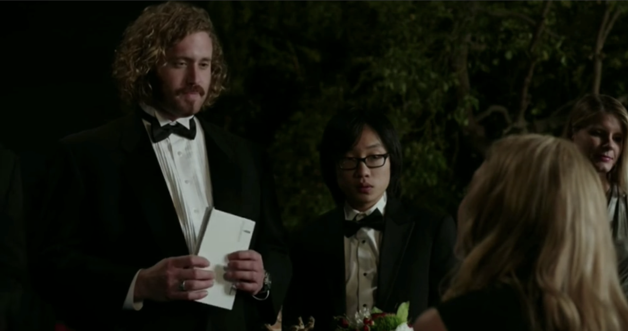 Erlich and Jian Yang attend a gala together