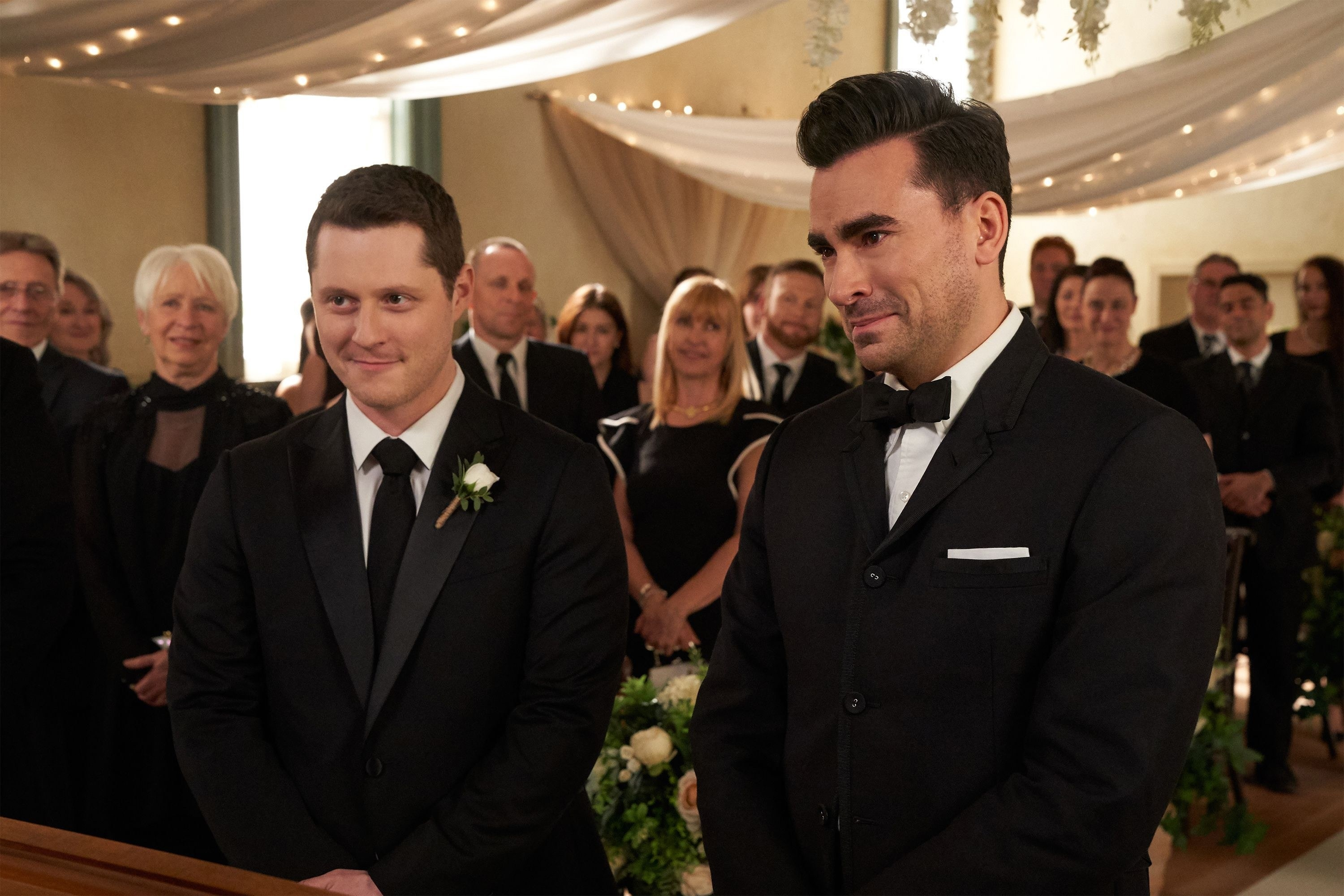 Patrick and David at the altar for their wedding