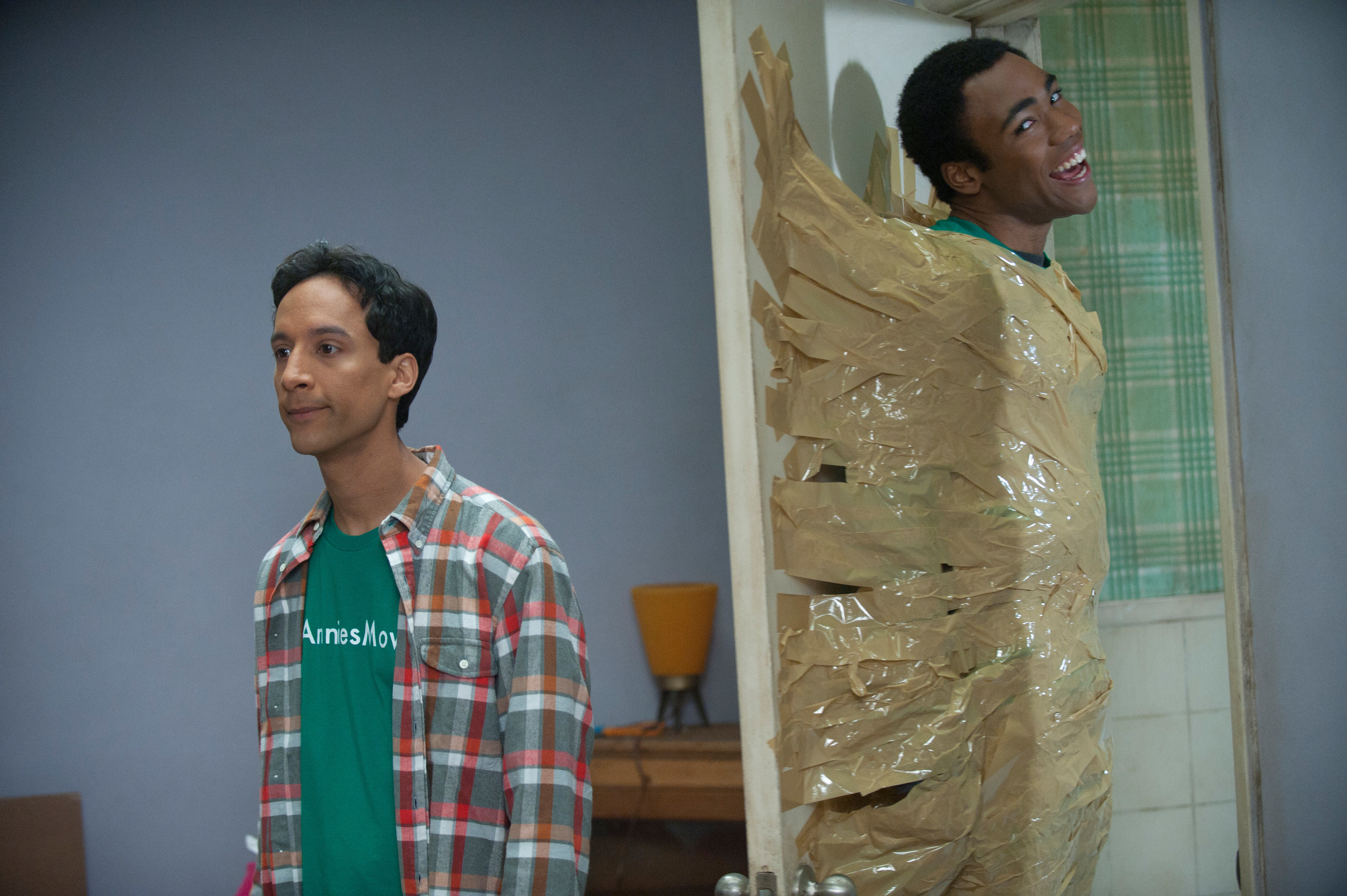 Troy and Abed getting up to some shenanigans in Community