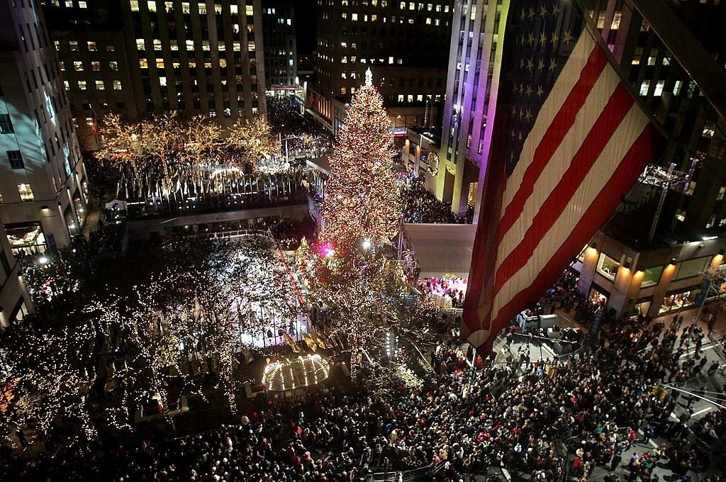 The crowd at rockefeller