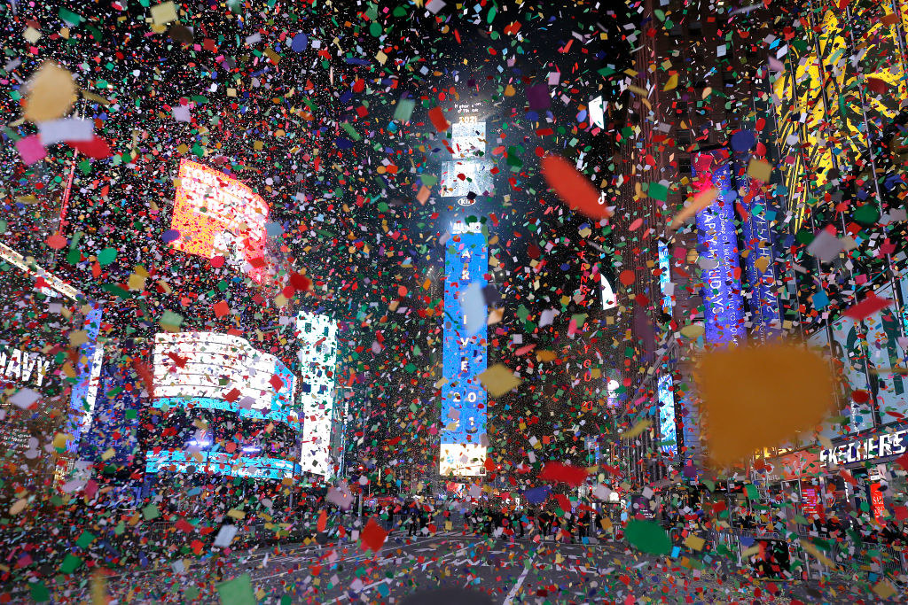 Confetti at New Years
