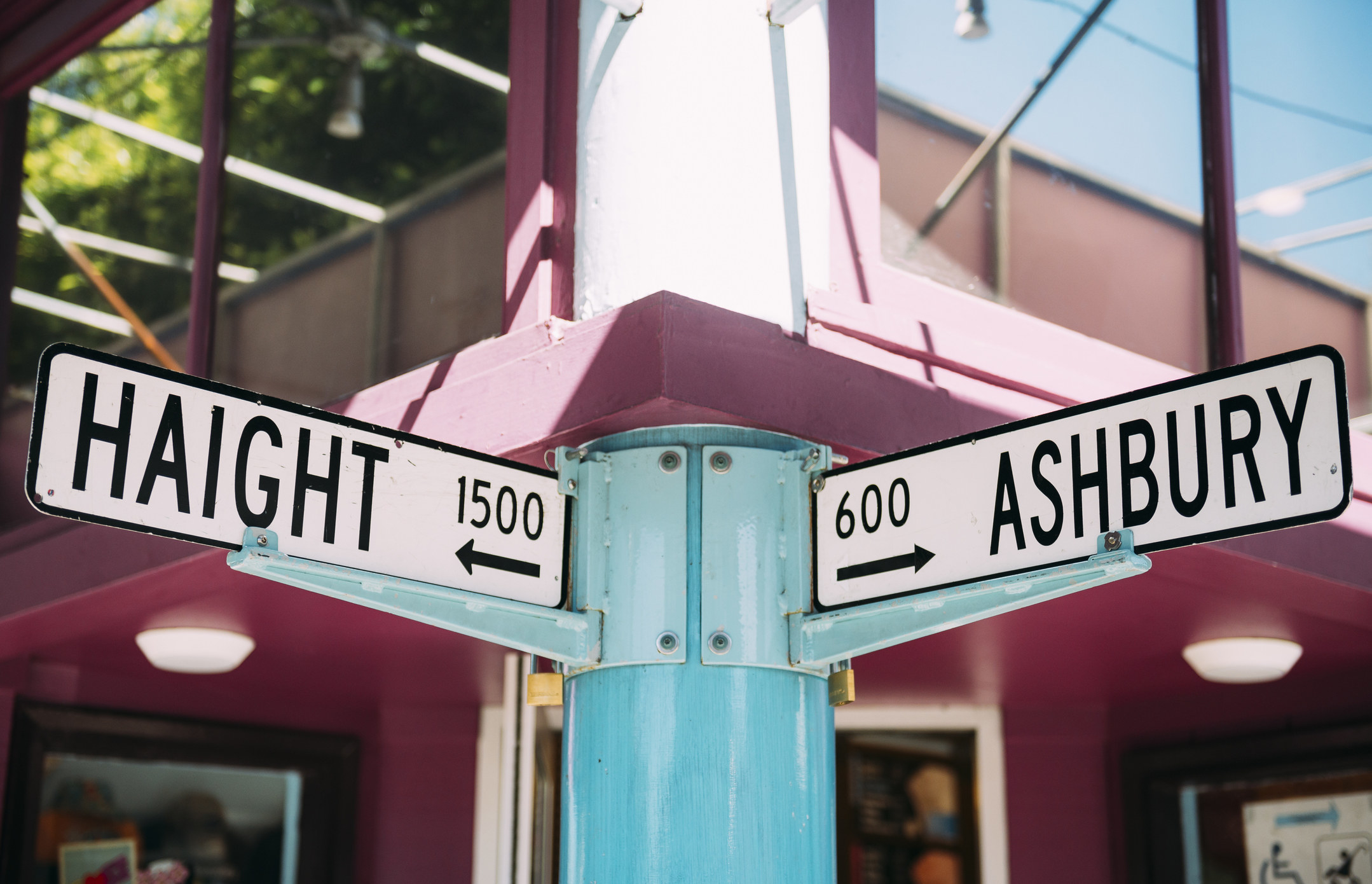 The Haight Ashbury sign