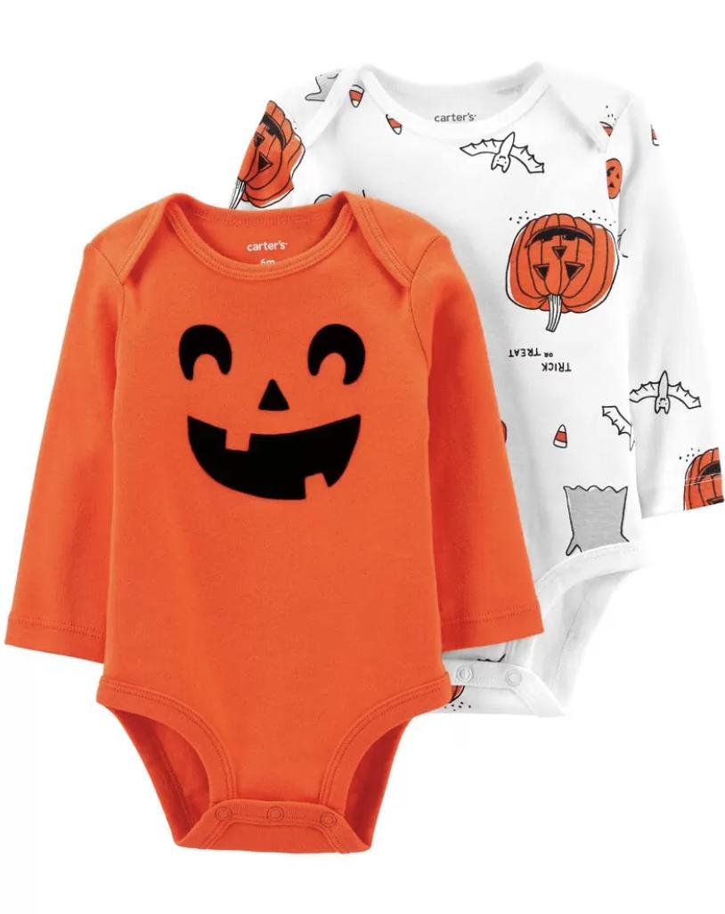 two halloween onesies