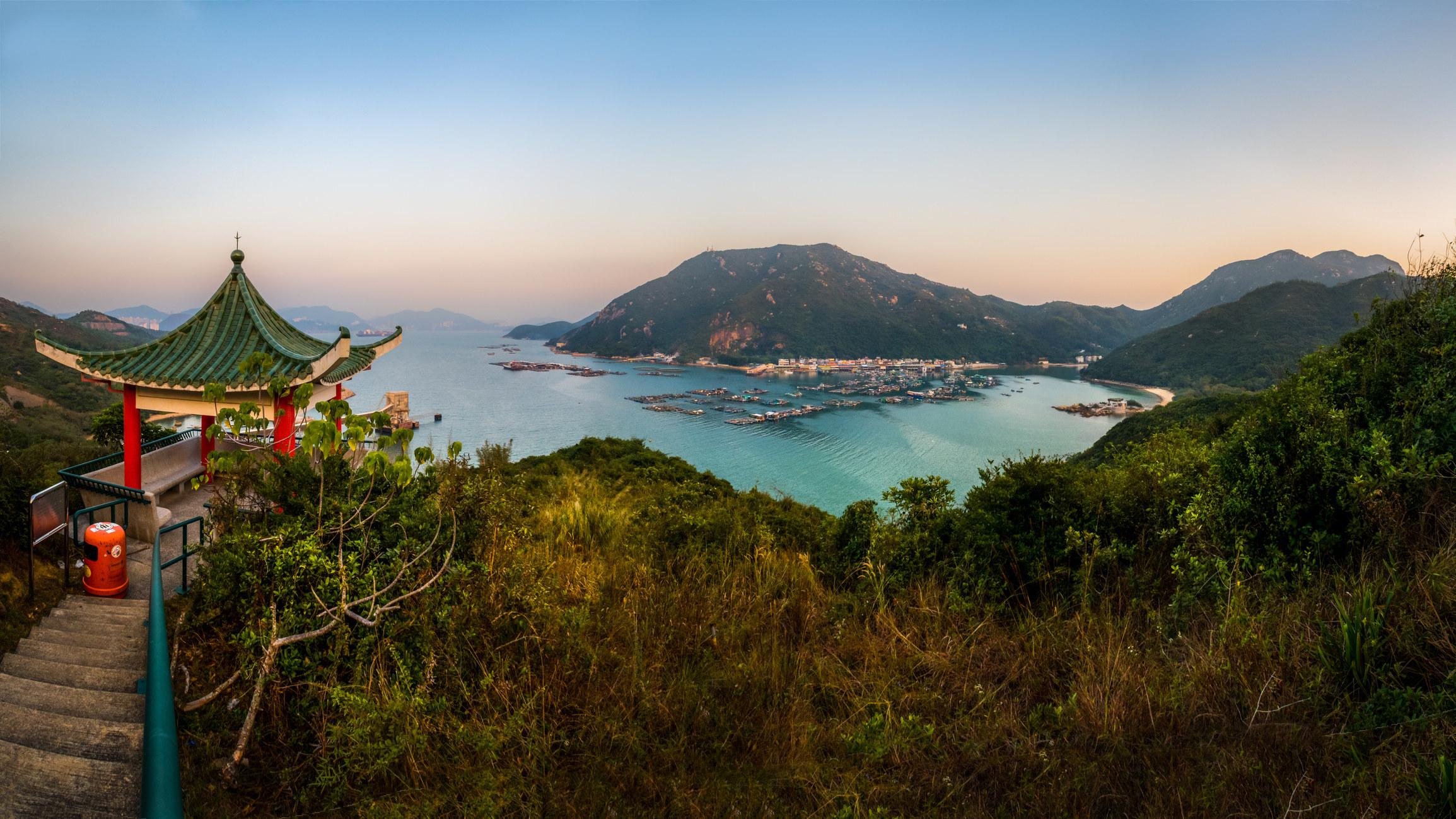 A view of Lamma Island in Hong Kong.
