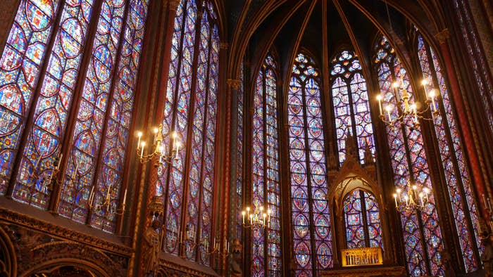 Stained glass inSainte-Chapelle.