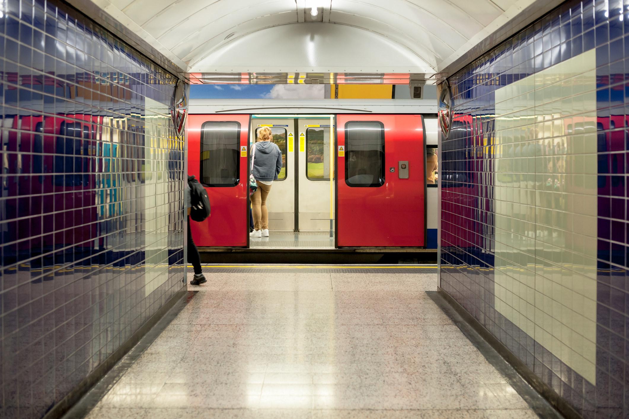 A London tube station.