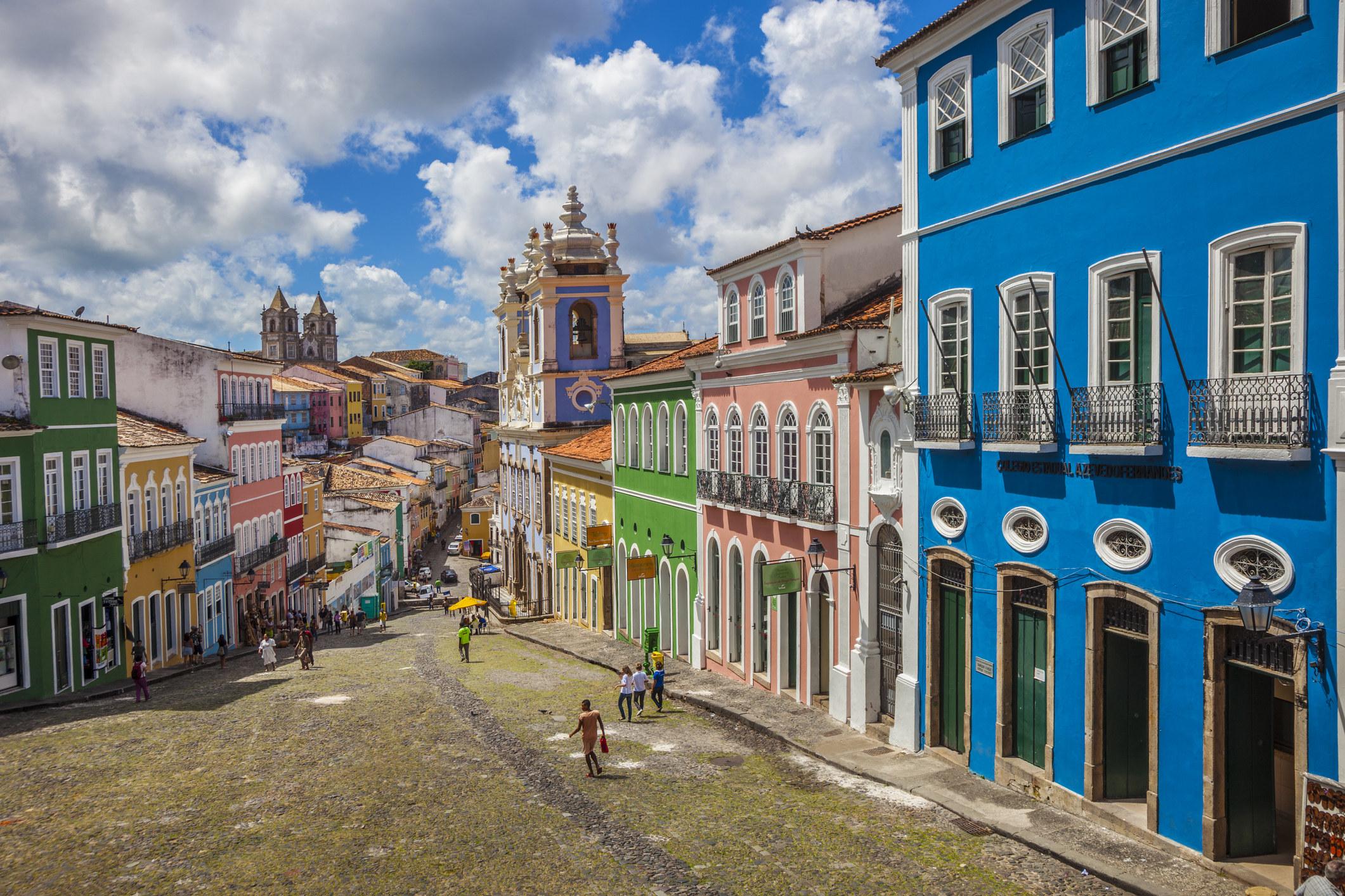The historic center of Salvador, Bravil.
