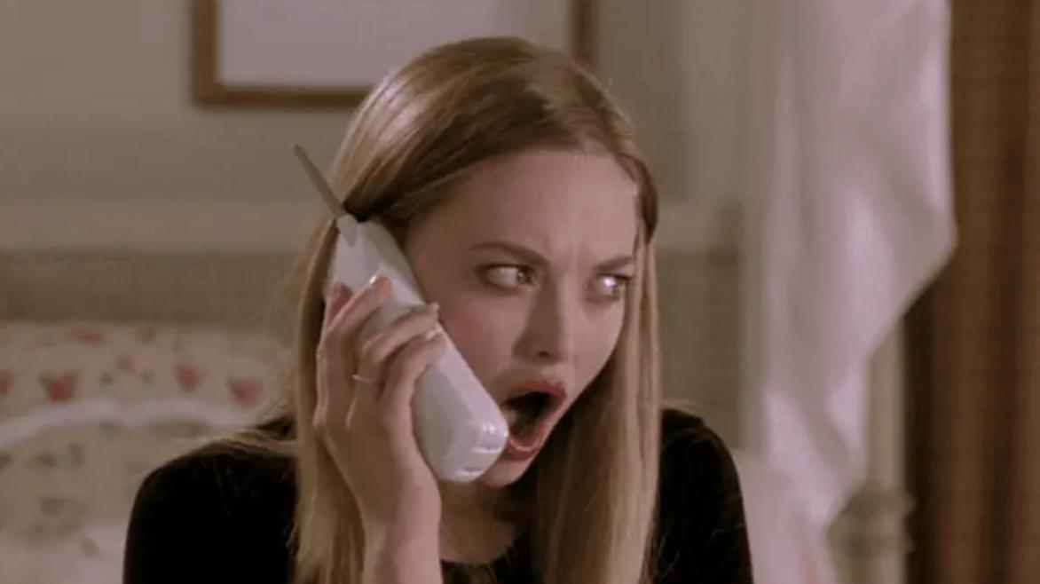 woman making shocked face