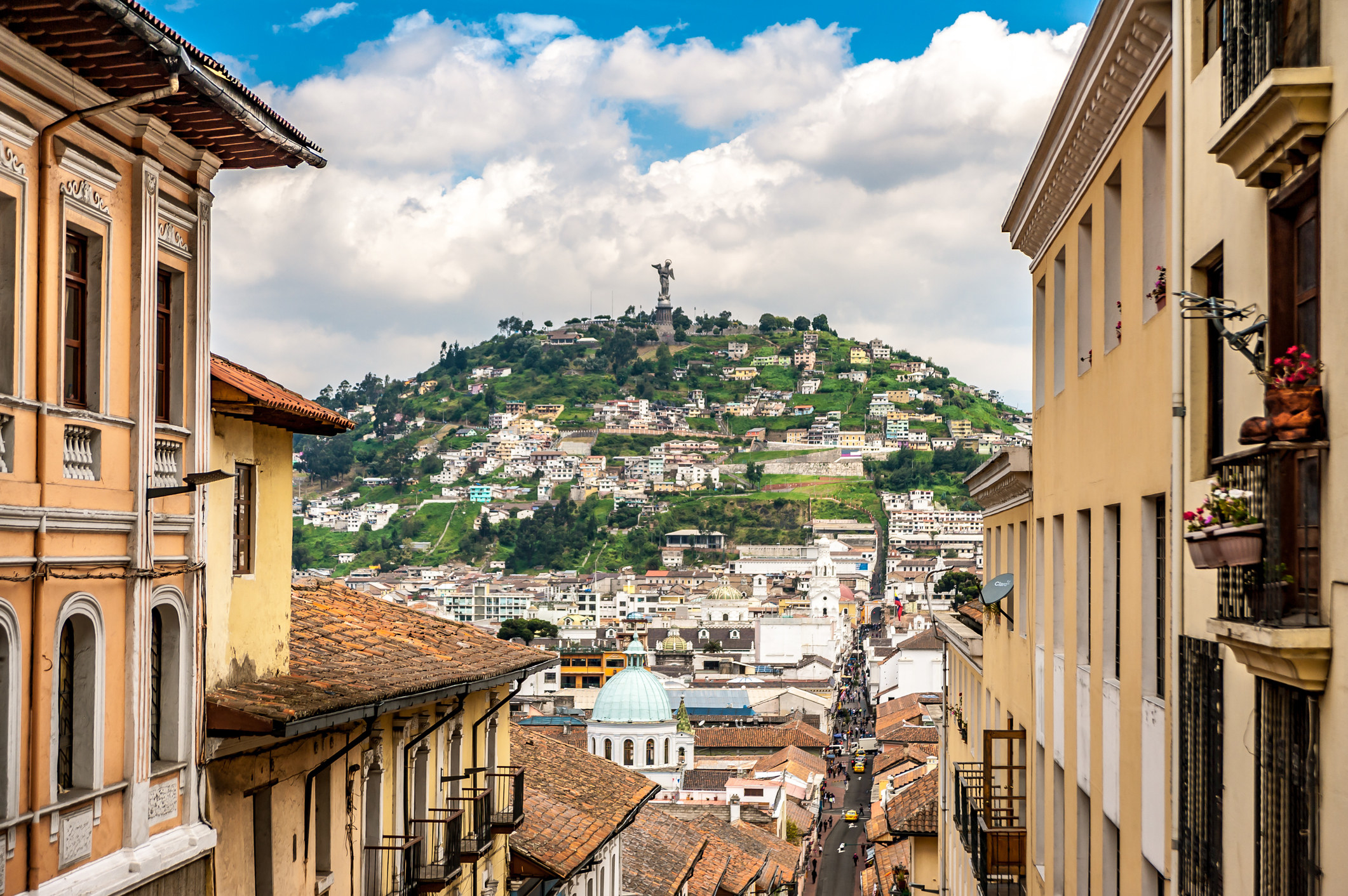 A view of Quito, Ecuador
