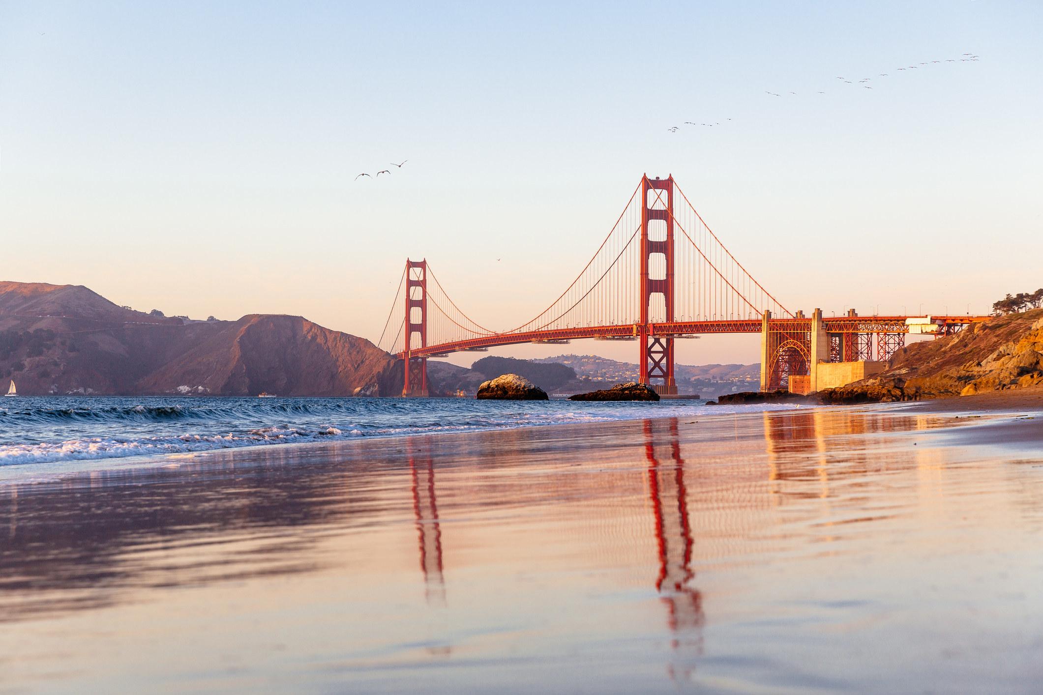 The Golden Gate Bridge in San Francsico.