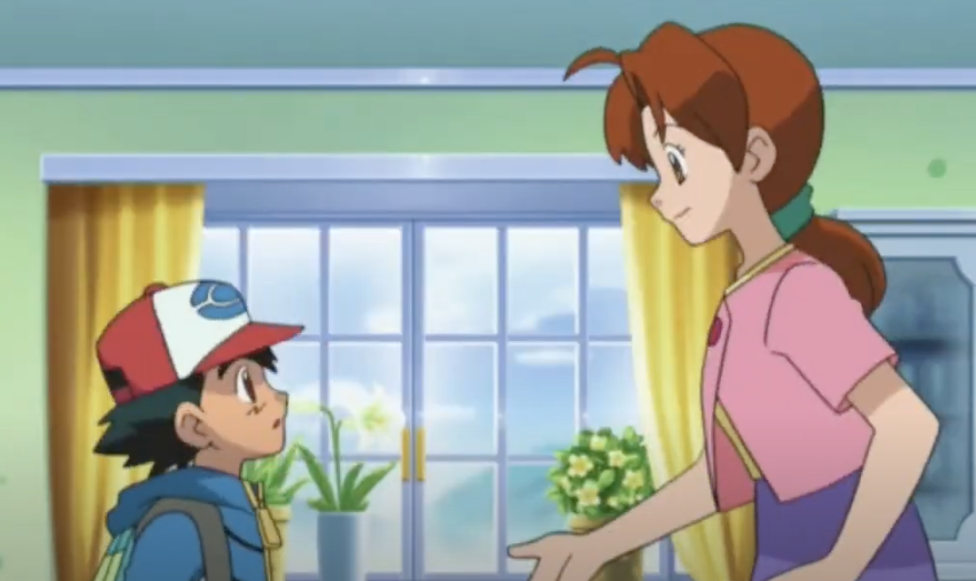 Ash and his mom
