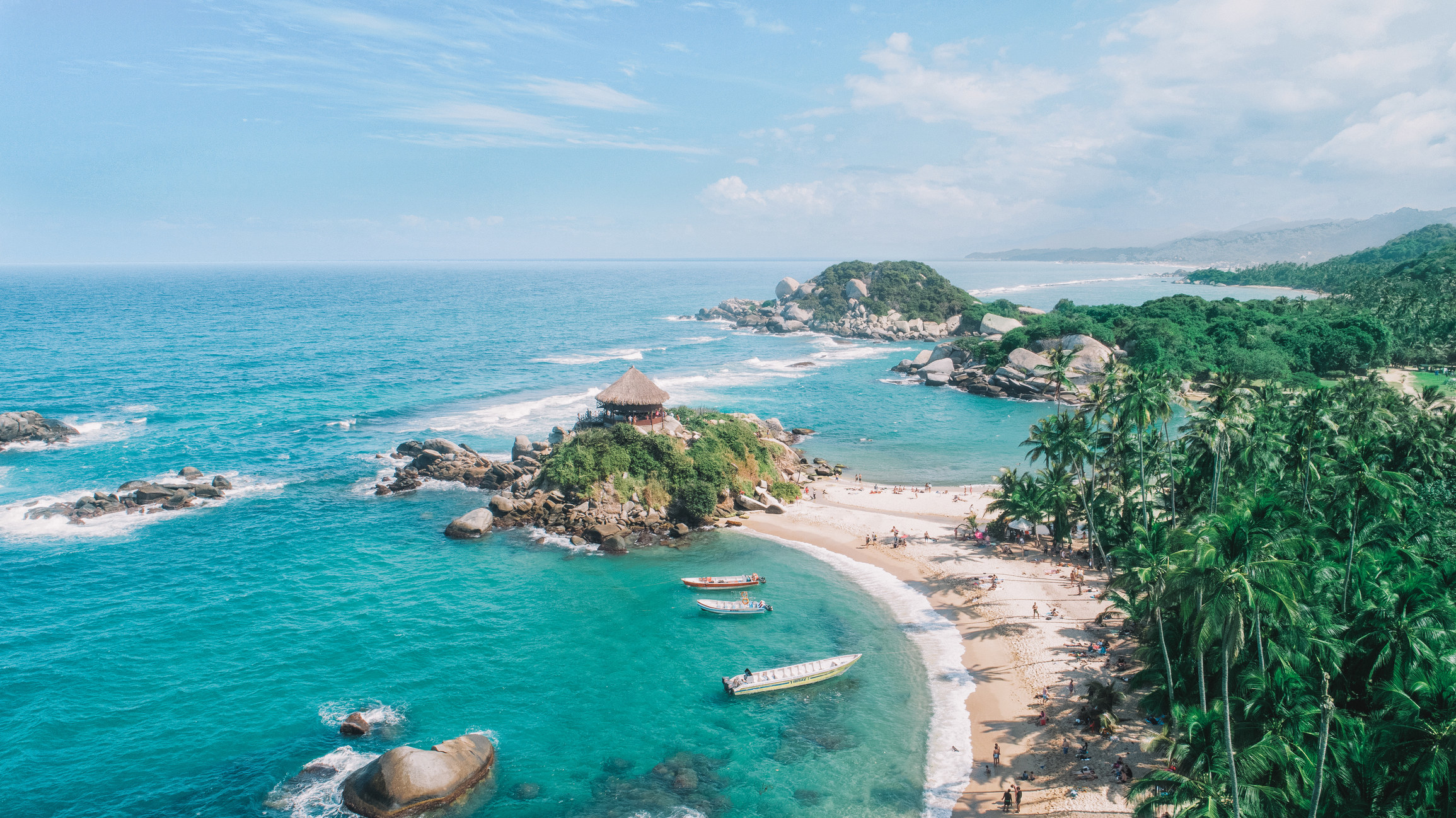 Tayrona National Park in Colombia.