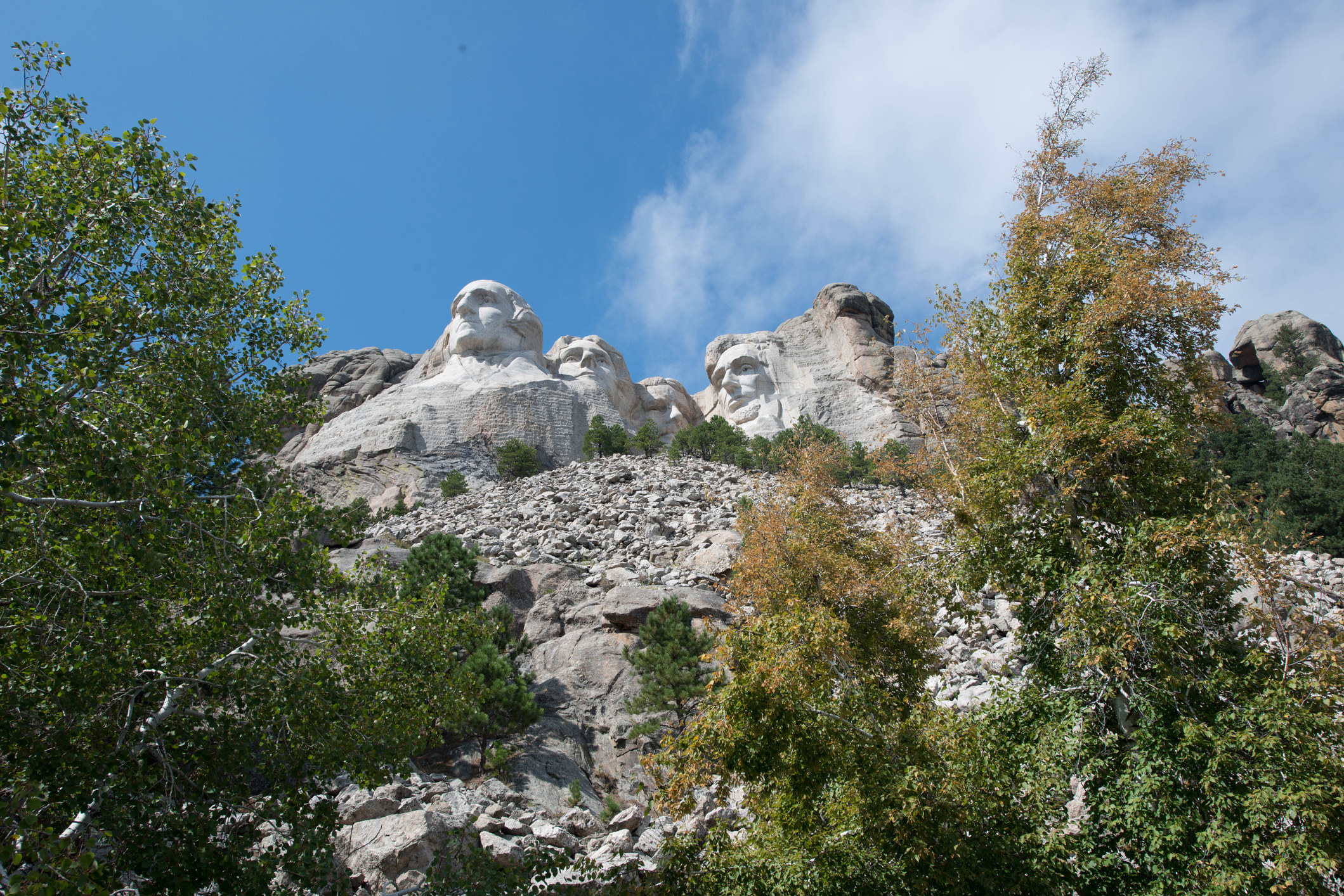 A view of Mount Rushmore from Custer State Park.