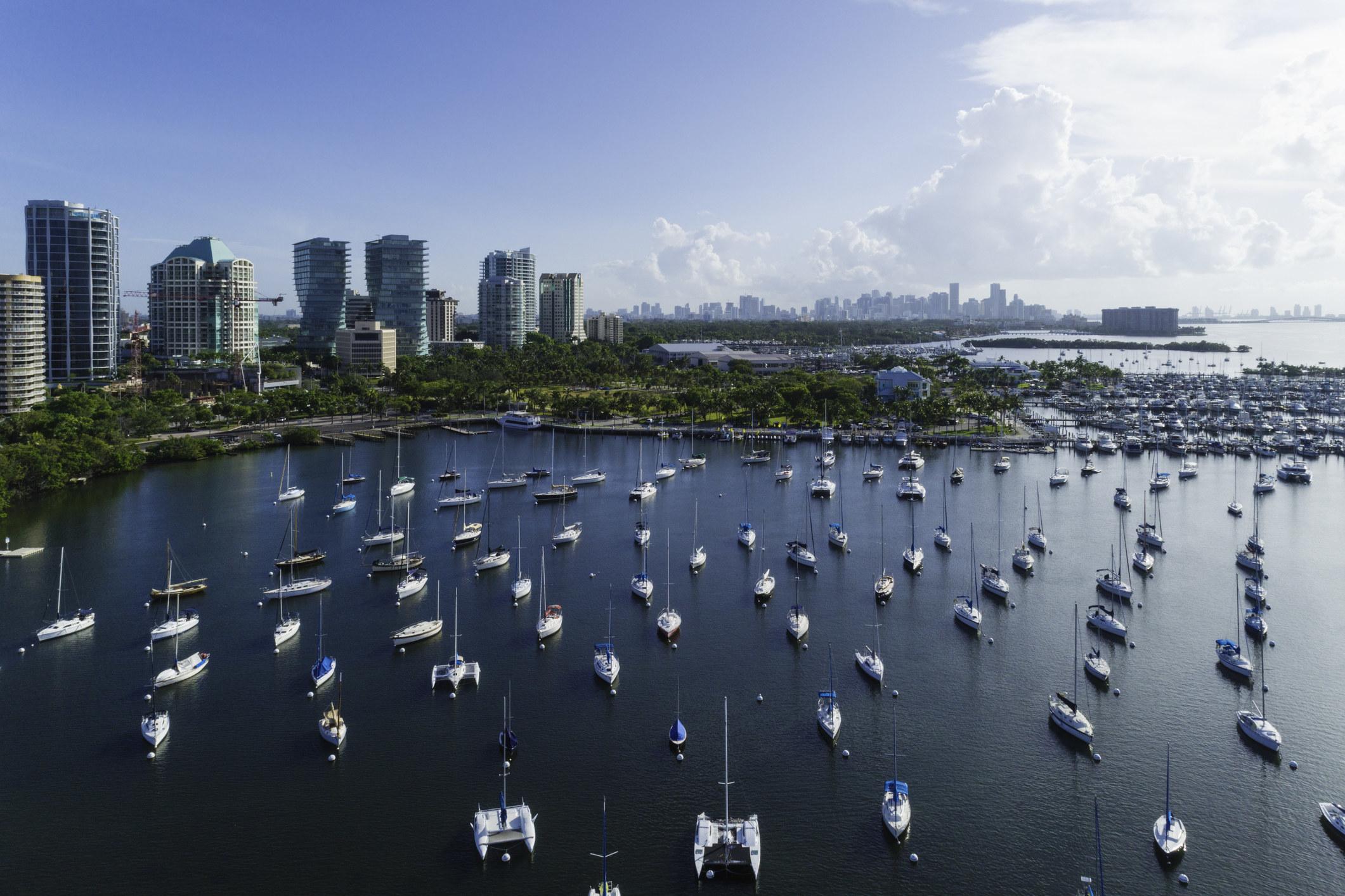 Coconut Grove Bay in Miami.