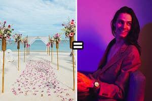 Beach wedding equals IV Dante