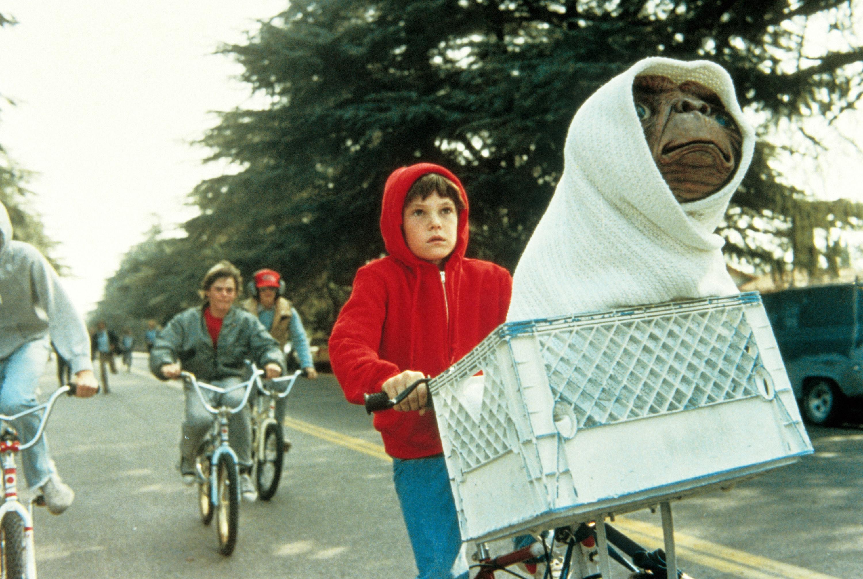The kids biking with E.T.