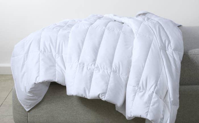 the plush, white duvet insert