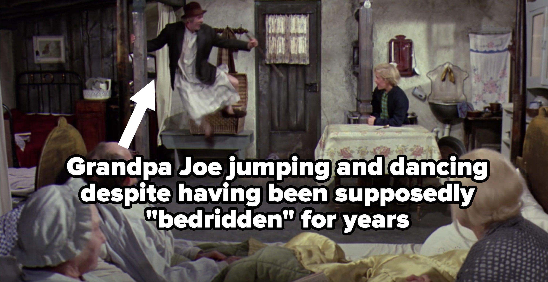 "Grandpa Joe dancing despite being ""bedridden"""