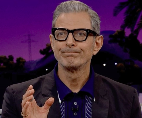 """Jeff Goldblum cringing on """"The Late Late Show with James Corden"""""""
