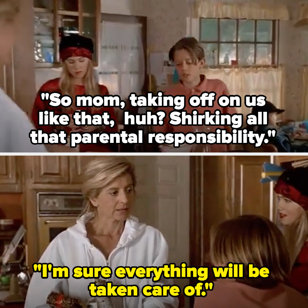 Zach tells his mom she's shirking all parental responsibility, and the mom says that she's sure everything will be taken care of