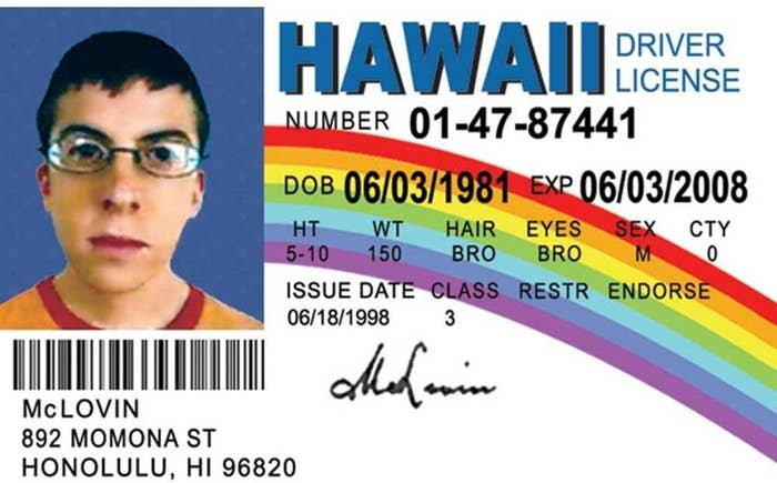 McLovin's fake ID