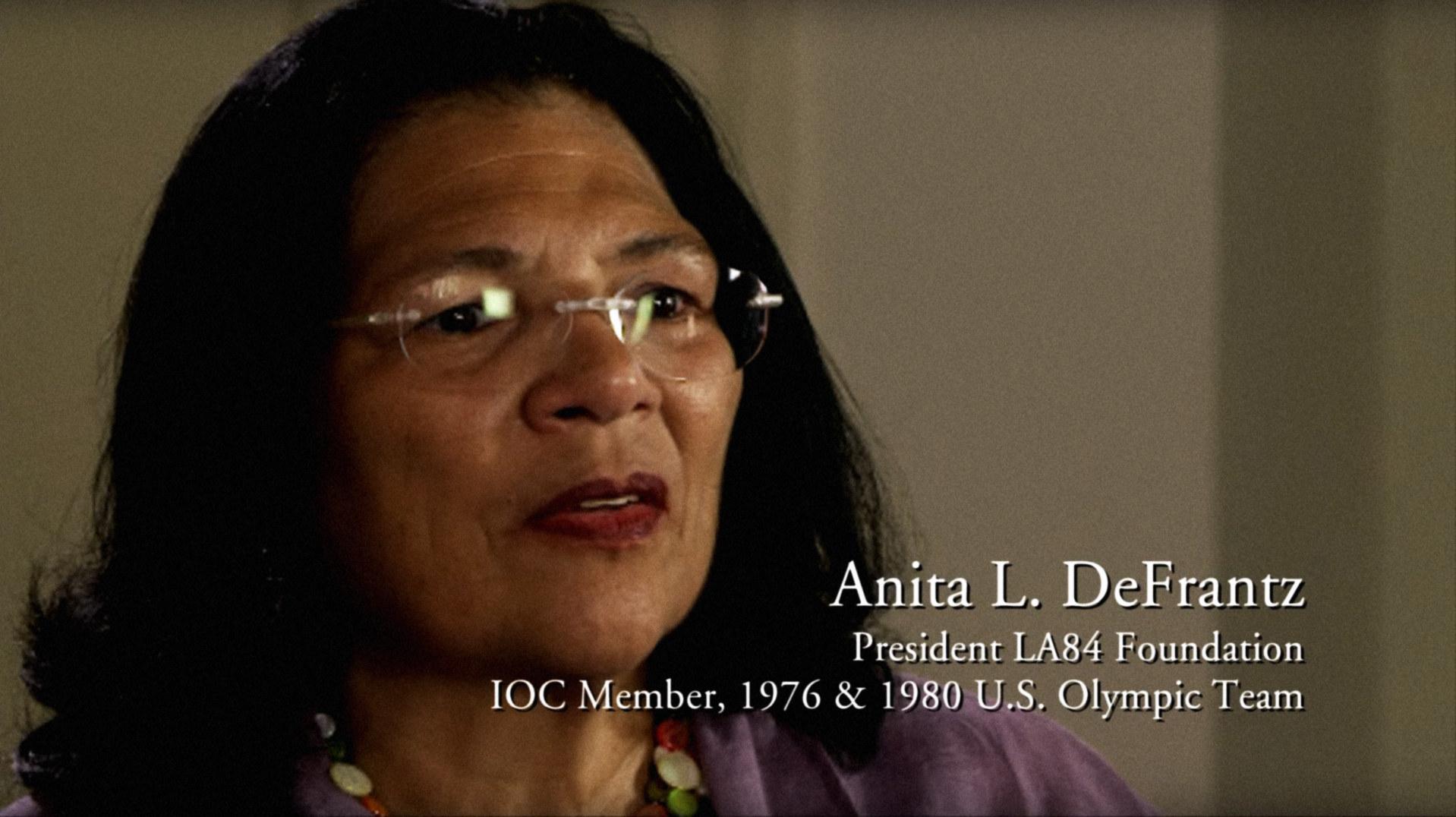 Anita DeFrantz, speaking in 2015