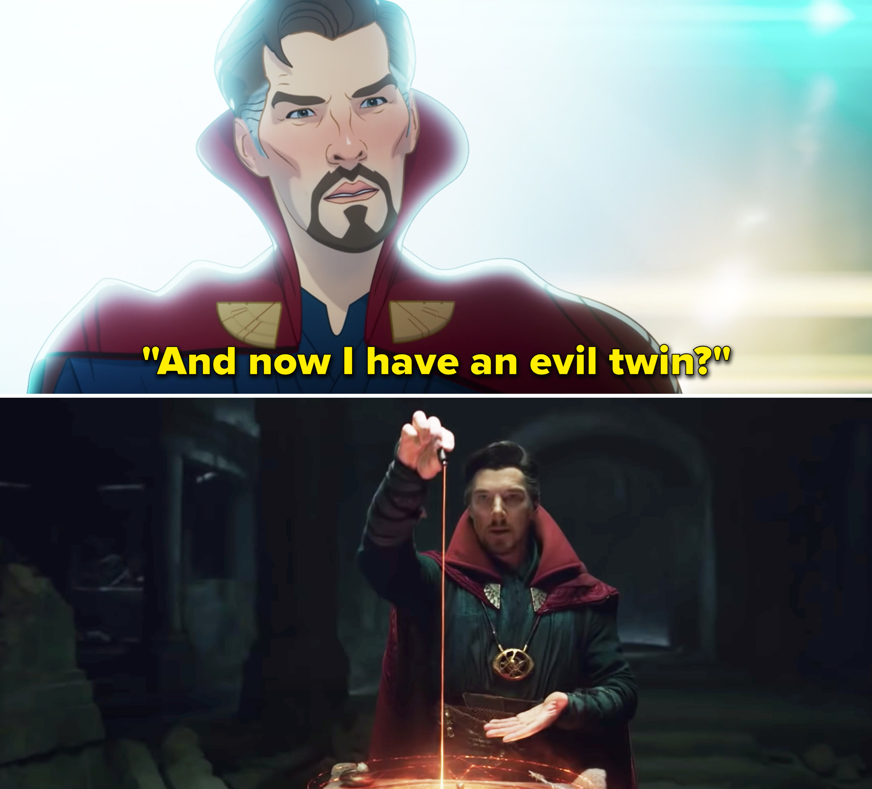 """Stephen saying, """"And now I have an evil twin"""""""