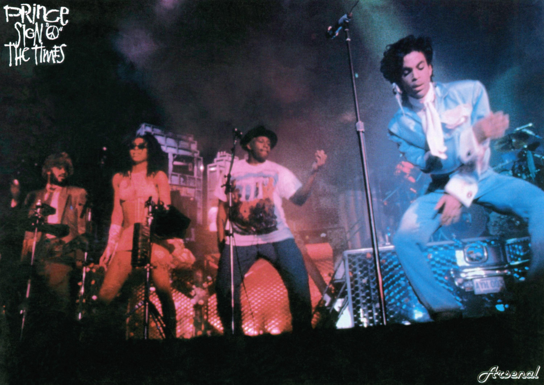 Prince performing onstage