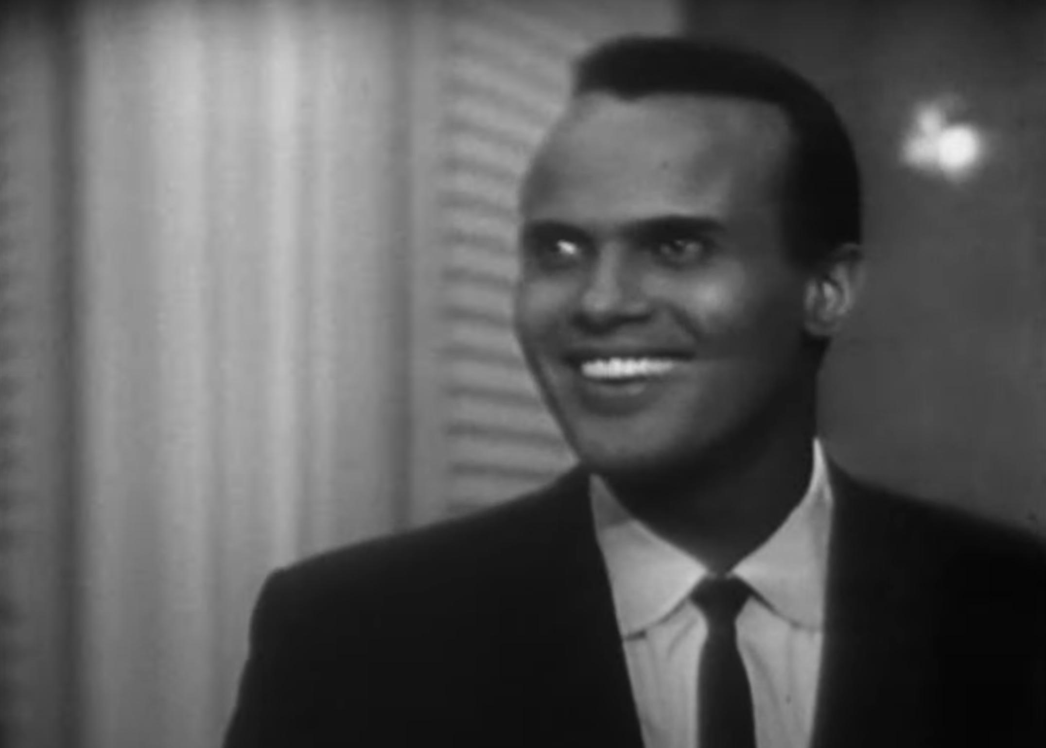 Harry Belafonte smiling