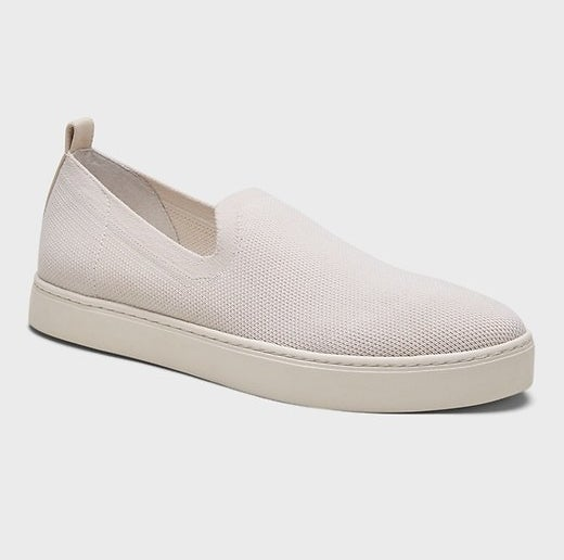 The white and cream slip on shoes