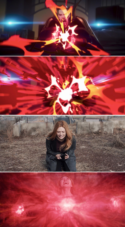 Stephen exploding magic vs. Wanda Maximoff exploding magic