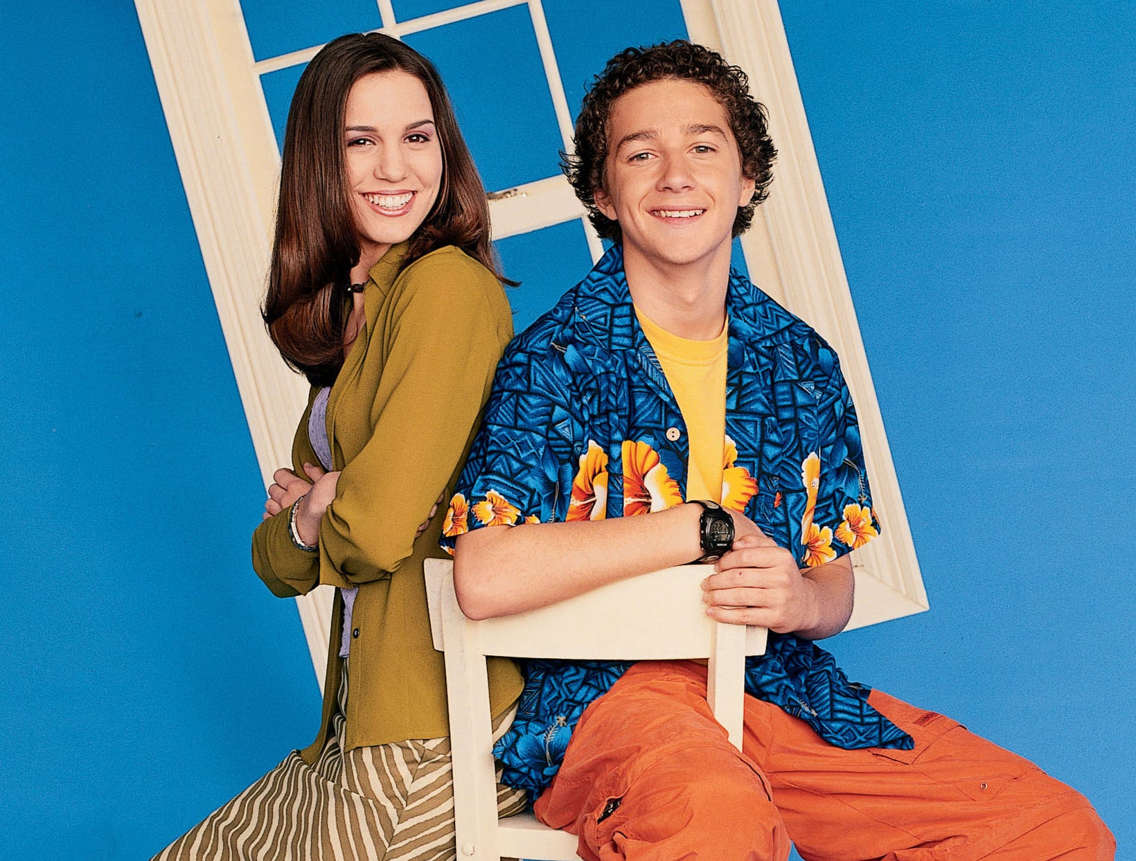 Christy poses with her Even Stevens co-stars in a promo photo