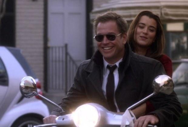 Ziva on a moped with Tony
