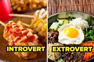 introvert corn dog extrovert bowl