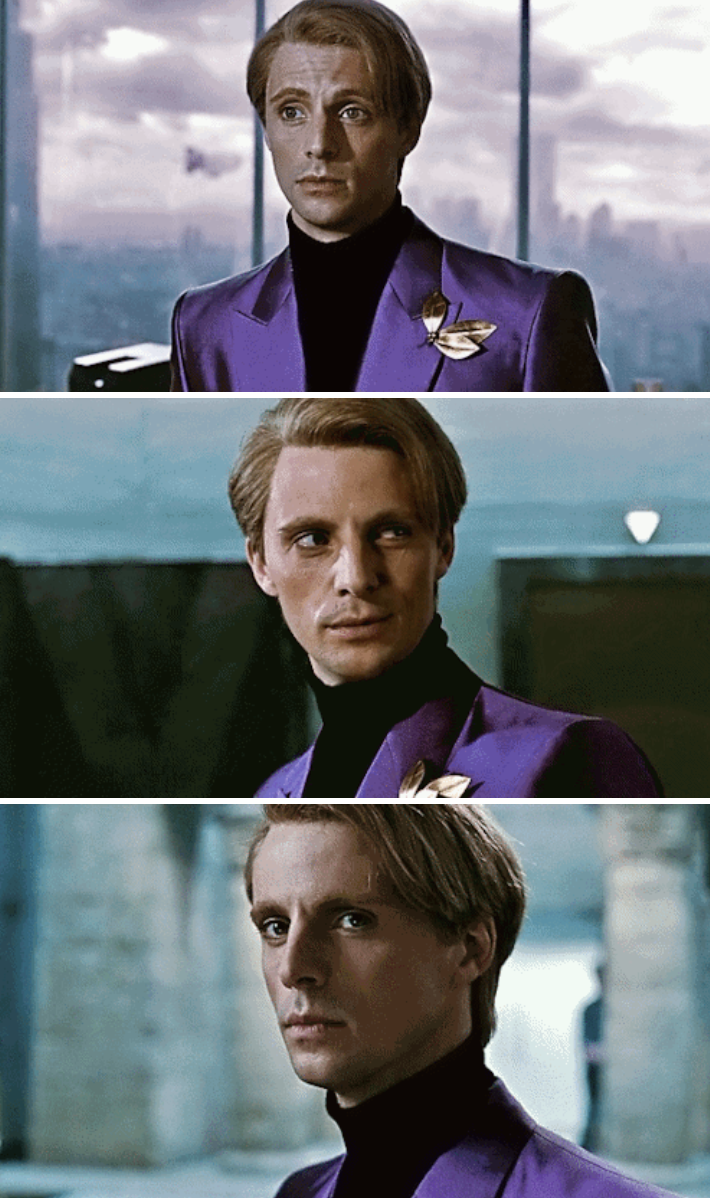 "Goode as Ozymandias in ""Watchmen"" wearing a bright-colored blazer"