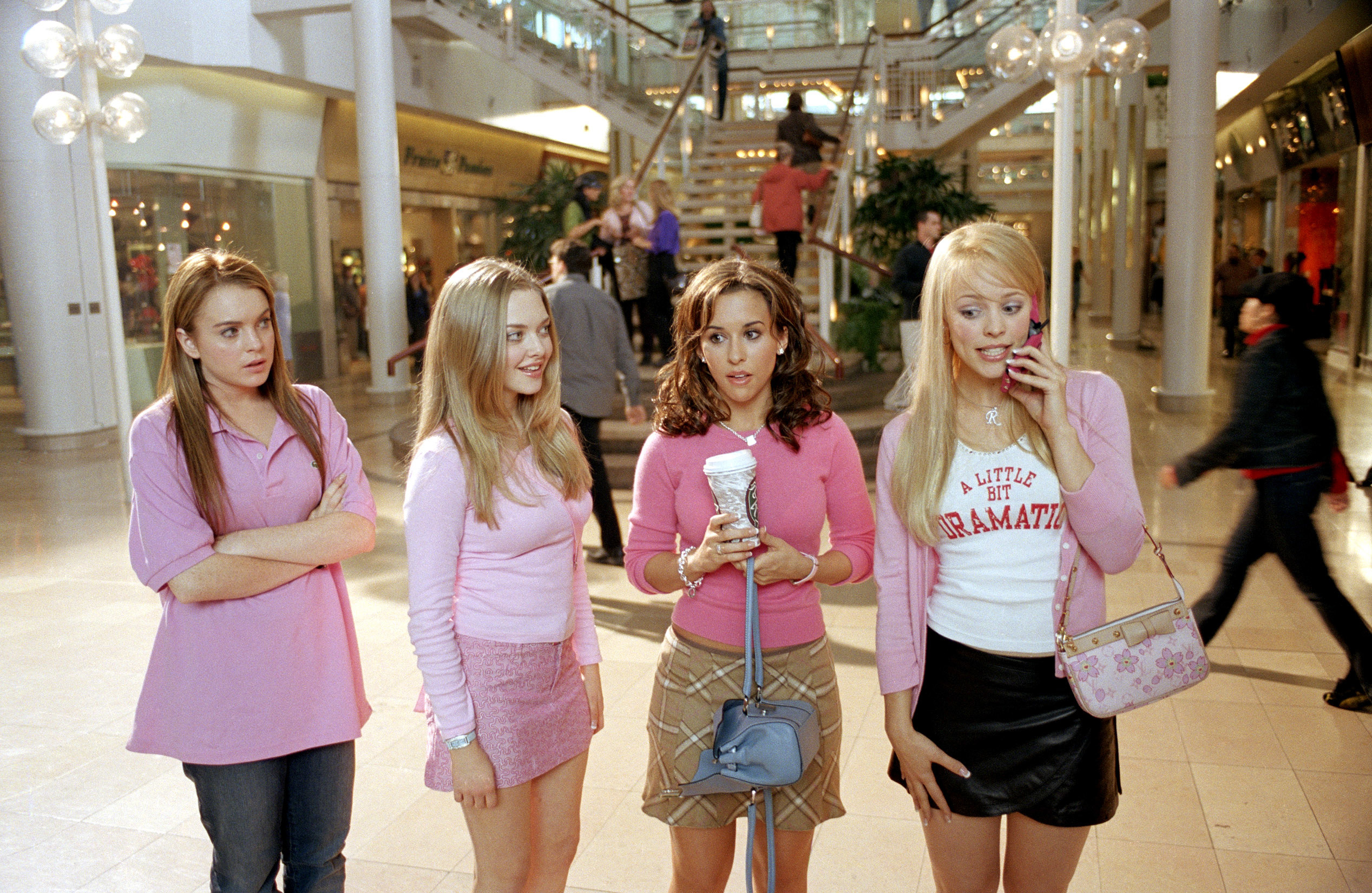 """Rachel McAdams and the cast of """"Mean Girls"""""""