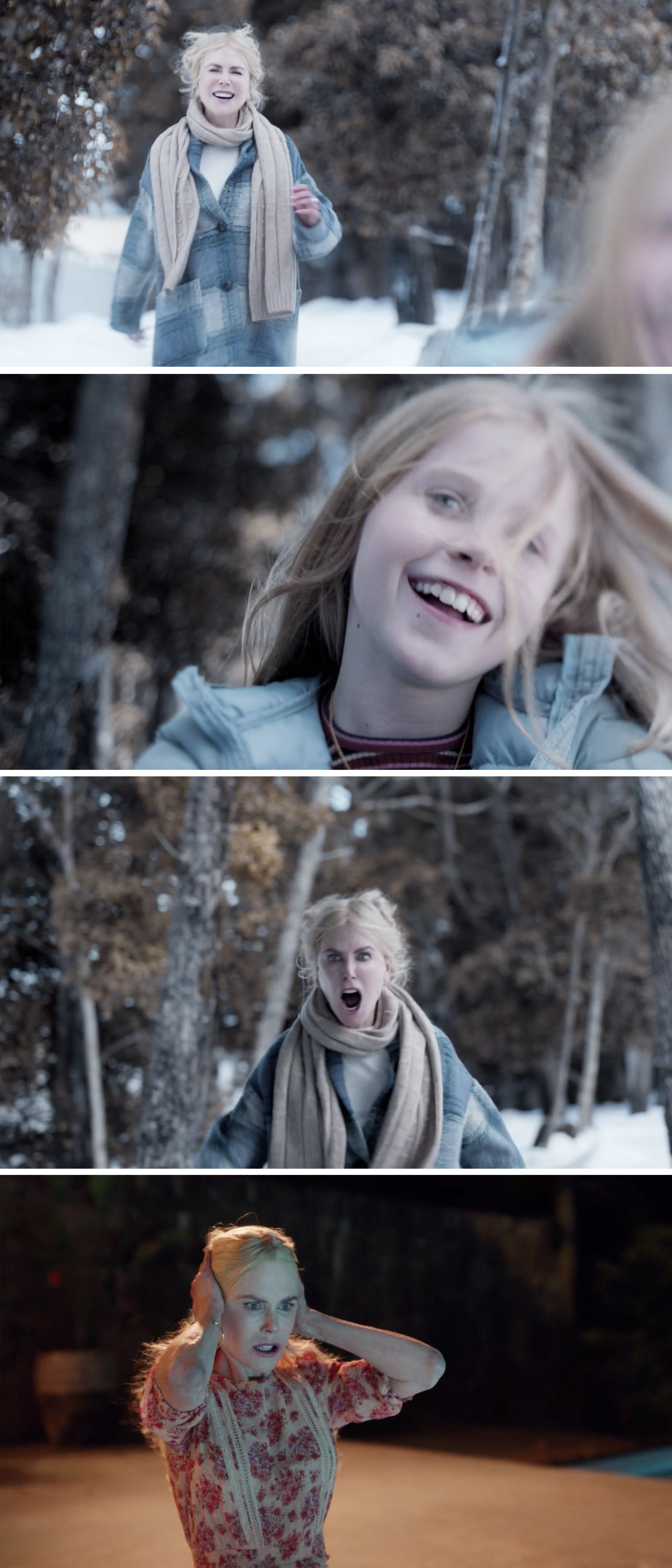 Masha yelling after her daughter in a flashback