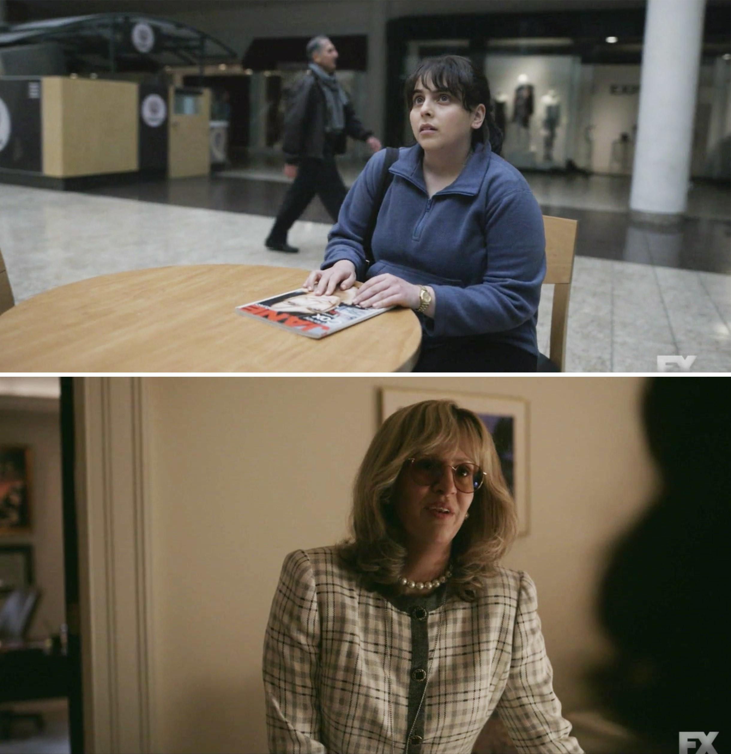 Beanie Feldstein and Sarah Paulson as Monica Lewinsky and Linda Tripp