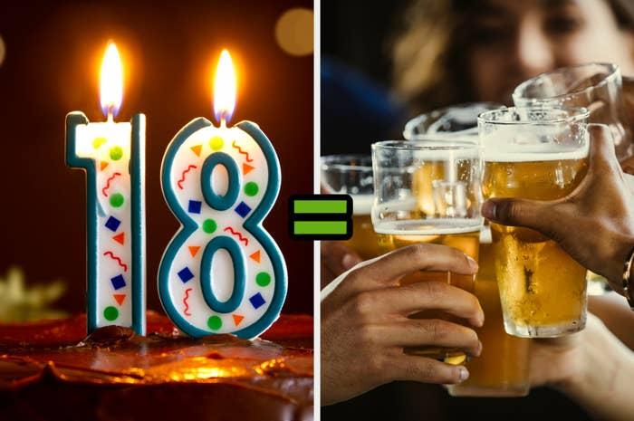 18 = drinks