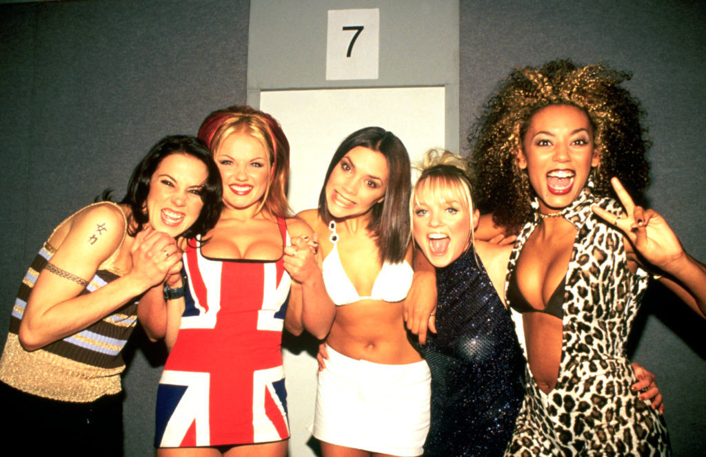 Spice Girls smiling together