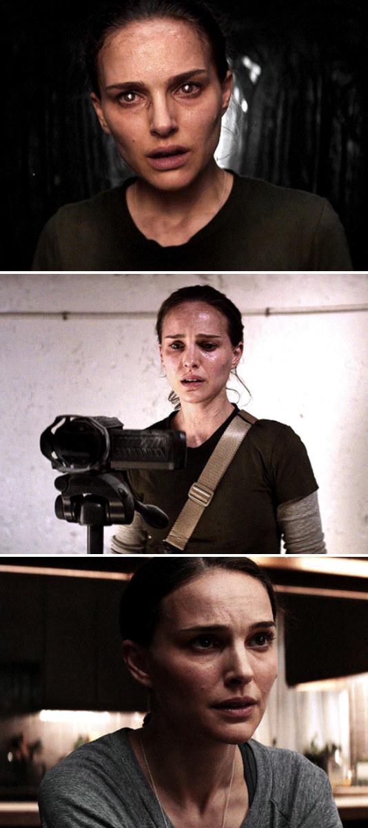 """Portman in three separate shots in """"Annihilation"""""""