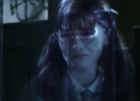 """Moaning Myrtle in """"Harry Potter and the Chamber of Secrets"""""""