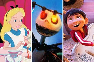 """Alice from """"Alice in Wonderland;"""" Jack Skellington from """"The Nightmare Before Christmas;"""" Miguel from """"Coco"""""""