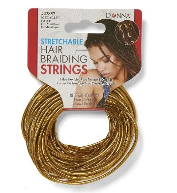 golden string for braiding hair