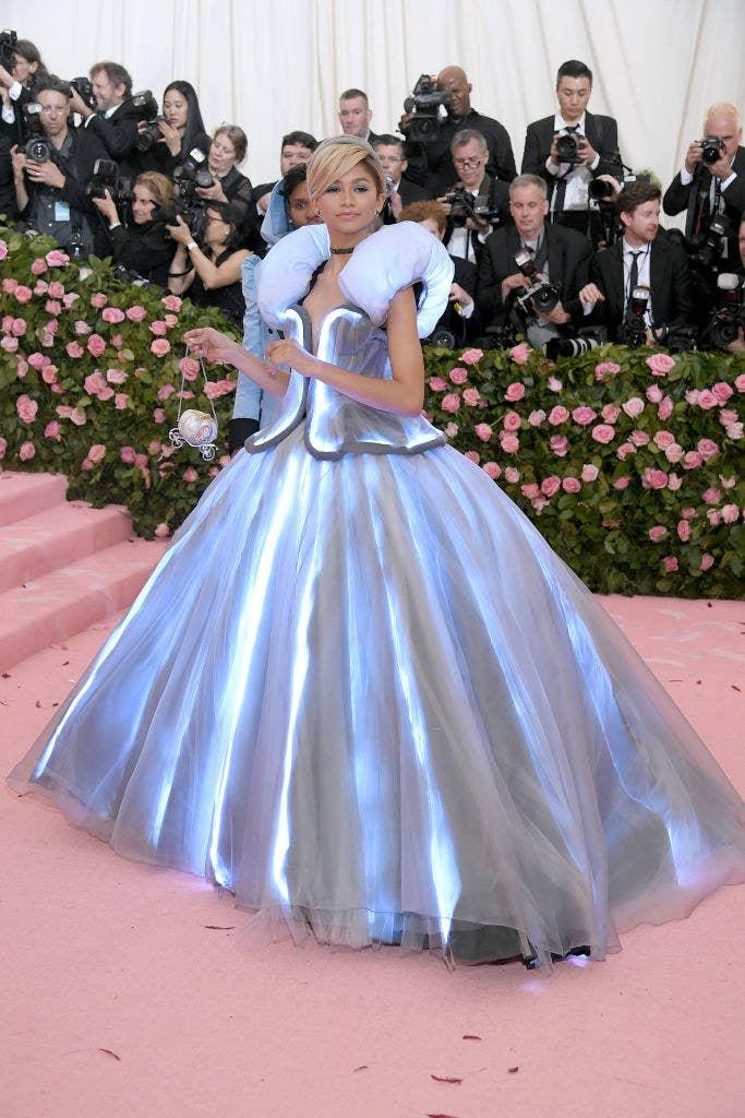 Zendaya arriving at the Met Gala carpet