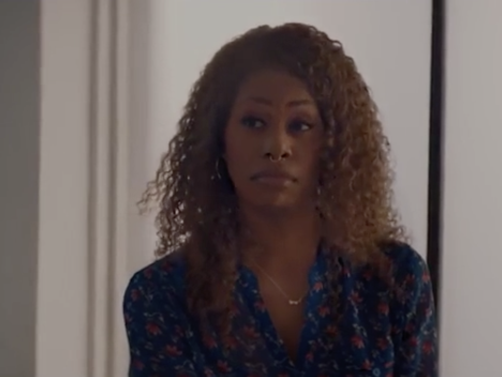 Laverne Cox looking appalled