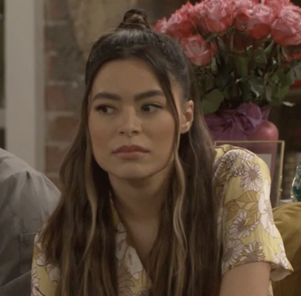 """Carly from """"iCarly"""" looking annoyed"""