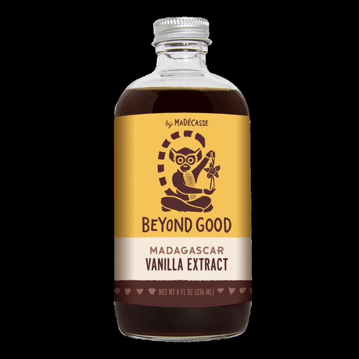 The bottle of vanilla