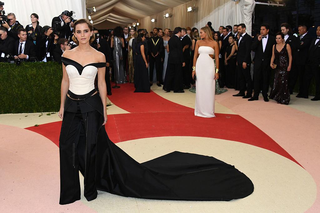 Emma Watsonarriving at the Met Gala carpet