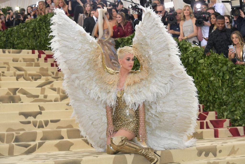 Katy Perry arriving at the Met Gala carpet